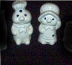 Click here to enlarge image and see more about item doughboysaltandpepper: Pillsbury Doughboy Salt and Pepper set