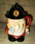 Click here to enlarge image and see more about item fireman: Fireman Mug with removal Fire Hat