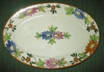 Click here to enlarge image and see more about item flowerplatter: Flowered Platter made in Japan