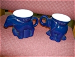 Click here to enlarge image and see more about item frankomamugs: Frankoma Set of 1994 Donkey and Elephant Mug