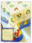 Click here to enlarge image and see more about item fruitsalad: Vintage Pattern Fruit Salad Tablecloth