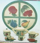 Click here to enlarge image and see more about item fruittset: Fruit childrens tea set