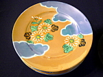 Click here to enlarge image and see more about item goldenplates: Japanese Lustreware Plates and Saucers