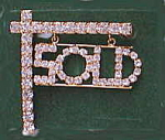 Click here to enlarge image and see more about item goldSold: Rhinestone SOLD hanging from Post