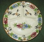 Click to view larger image of Flowered Grill Plate made in Japan (Image1)