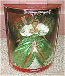 Click here to enlarge image and see more about item holidaya-abarbie: Happy Holidays African American Barbie