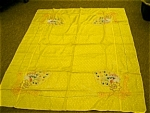 Click here to enlarge image and see more about item japanesesilk: Japanese Embroidered Tablecloth and Napkins