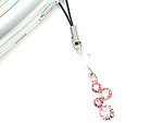 Click here to enlarge image and see more about item journey: Pink Journey Crystal Drop Cell Phone Charm