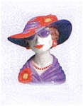 Red Hat Ladies Head Vase