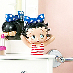 Click here to enlarge image and see more about item lotion: Betty Boop Americana Ceramic Lotion Dispenser