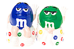 Click here to enlarge image and see more about item mandm: M & M cute Blue and Green  Salt & Pepper Set
