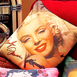 Click here to enlarge image and see more about item marilynpillow: Marilyn Monroe Squishy Square Colorful Pillow