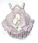 Click here to enlarge image and see more about item mauve: Victorian Style Mauve Night Light w/ Roses