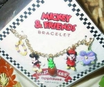 Click here to enlarge image and see more about item mickeybracelet: Mickey and Minnie Bracelet