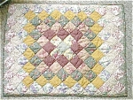 Click here to enlarge image and see more about item multisham:  Pillow Sham Quilted Multi Squares