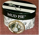 Click here to enlarge image and see more about item ovalgirlbox: Mud Pie Oval Pill Box with Little Girl