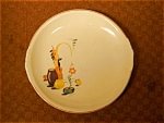 Click here to enlarge image and see more about item padenplate: Paden City Mexican Salad Dessert Plate