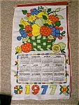 Click here to enlarge image and see more about item patchwork: 1977 Patchwork Linen Calendar