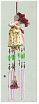 Click here to enlarge image and see more about item petuniachimes: Laura Kelly Petunia Wind Dancer Chimes