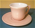 Click here to enlarge image and see more about item pinkmoderntoneplate: Moderntone Little Hostess Pink Cup and Saucer