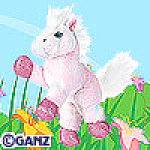 Click here to enlarge image and see more about item pinkpony: Ganz Webkinz Pink Pony New Unopened Tag
