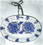 Click here to enlarge image and see more about item platebluewhiteoval: Plate-Blue and White-Oval
