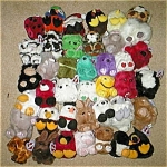 Click here to enlarge image and see more about item puffkins39: Retired original plus  Beanie Puffkins