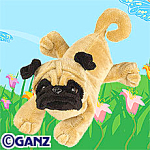 Click here to enlarge image and see more about item pug: Ganz Webkinz Pug New Unopened Tag