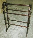 Click here to enlarge image and see more about item quiltrack: Oak or Cherry Quilt Rack