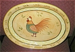 Click here to enlarge image and see more about item roosterplatter: Rooster Pottery Platter