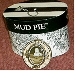 Click here to enlarge image and see more about item roundboypillbox: Mud Pie Round Little Boy Pill Box