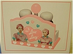 Click here to enlarge image and see more about item saltpepper: I Love Lucy with Ethel Salt & Pepper Set