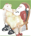 Click here to enlarge image and see more about item santa: Erika Oller Santa Cookie Jar