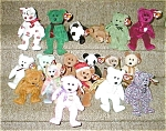 Click here to enlarge image and see more about item setof30retiredbeanies: Set of 30 Retired Beanies with 18 Bears