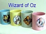Click here to enlarge image and see more about item setof4-1156363005: Wizard Of Oz set of 4 Ceramic Mugs Cups Mint
