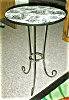 Click to view larger image of Toile Side Table with Black  wrought iron (Image2)