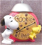 Snoopy and Woodstock Alarm Clock Cookie Jar