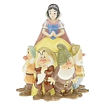 Click here to enlarge image and see more about item snowwhite: Snow White and the 7 Dwarfs Cookie Jar