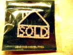 Real Estate Rhinestone House w/Sold Pin