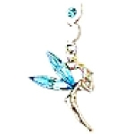 Click here to enlarge image and see more about item tinkerbellblue: Blue Aqua Tinkerbell Fairy Cell Charm