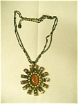 Click to view larger image of Ethel & Myrtle Topaz Necklace & Earrings Set (Image1)