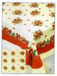 Click here to enlarge image and see more about item vintageapples: Vintage Pattern Apples Tablecloth w/Holder