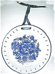 "Click here to enlarge image and see more about item whiteblue8round: Blue and White 8"" plate"