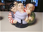 Click here to enlarge image and see more about item yukyukyuk: 3 Stooges Three Stooges Cookie Jar