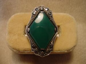 Art Deco Sterling and Marcasite Ring (Image1)