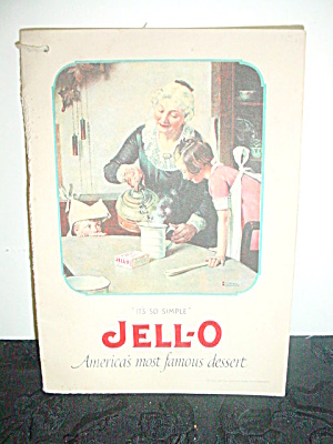 Vintage Jello Cookbook Norman Rockwell Illus. (Image1)