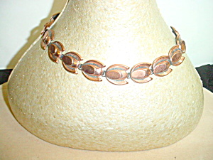 Vintage Renoir Copper Tulip Link Necklace (Image1)