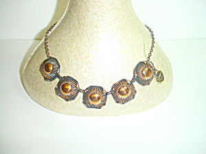 Vintage Copper Necklace Unmarked but Fabulous (Image1)