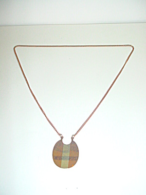 Vintage Copper and Sterling Silver Pendant (Image1)