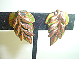 Vintage Renoir Matisse Enamel Earrings (Image1)